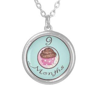 9 Months Cupcake Milestone Custom Necklace