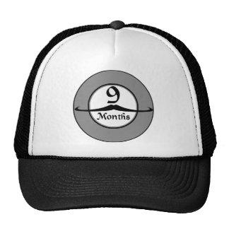 9 Months Mustache Milestone Cap