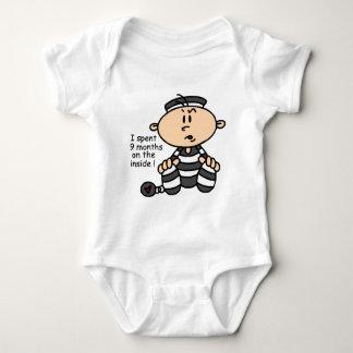 9 Months On The Inside Baby Prisoner T-shirt