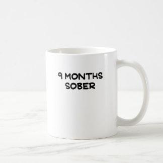 9 MONTHS SOBER.png Basic White Mug