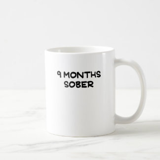 9 MONTHS SOBER.png Classic White Coffee Mug