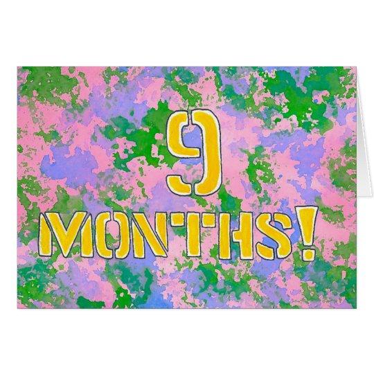 9 Months Sobriety Birthday / Anniversary Card