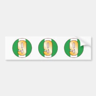 9 NIGERIA Gold Bumper Sticker