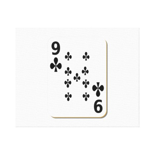 9 of Clubs Playing Card Gallery Wrap Canvas