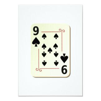 9 of Spades Playing Card 9 Cm X 13 Cm Invitation Card