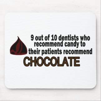 9 Out Of 10 Dentist Recommend Chocolate Mouse Mat
