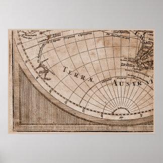 9 Panel Sepia Version de L Isle World Map Frame 7 Print