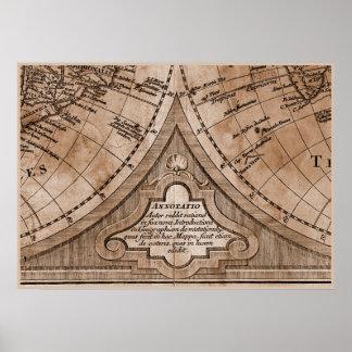 9 Panel Sepia Version de L Isle World Map Frame 8 Posters
