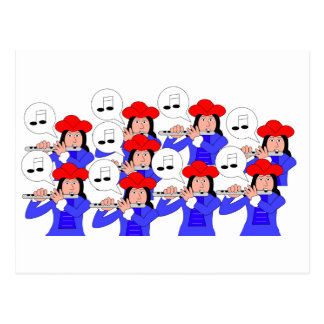 9 Pipers Piping Post Card