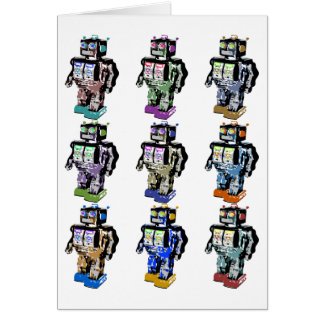 9 Robots Coloured Card
