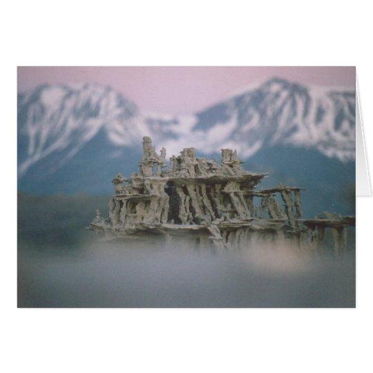 9. Sand Tufa & Blurred Surround, Mono Lake Card