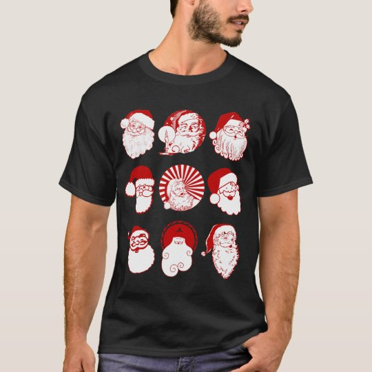 9 Santas - Men's Black Short Sleeve T-shirt