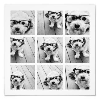 9 Square Photo Collage - Black and White