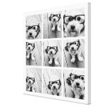 9 Square Photo Collage - Black and White Canvas Prints