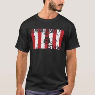 9 Stripped Sons of Liberty Flag T-Shirt