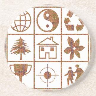 9 symbols make great KIDS motivational story GIFT Drink Coasters