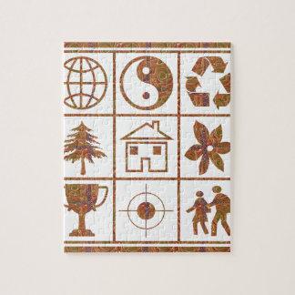 9 symbols make great KIDS motivational story GIFT Jigsaw Puzzles