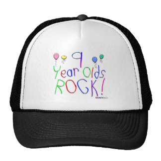 9 Year Olds Rock! Hat