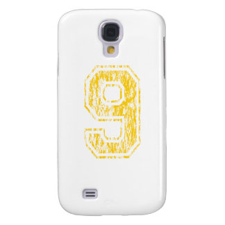 #9 Yellow Varsity Galaxy S4 Case