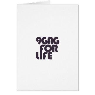 9gag for life greeting card