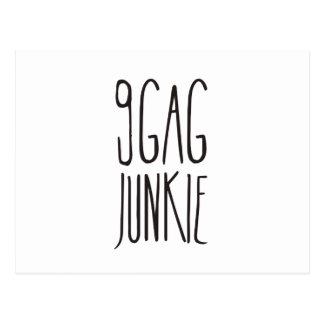 9gag junkie postcard