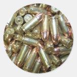 9mm ammo Ammunition Round Stickers