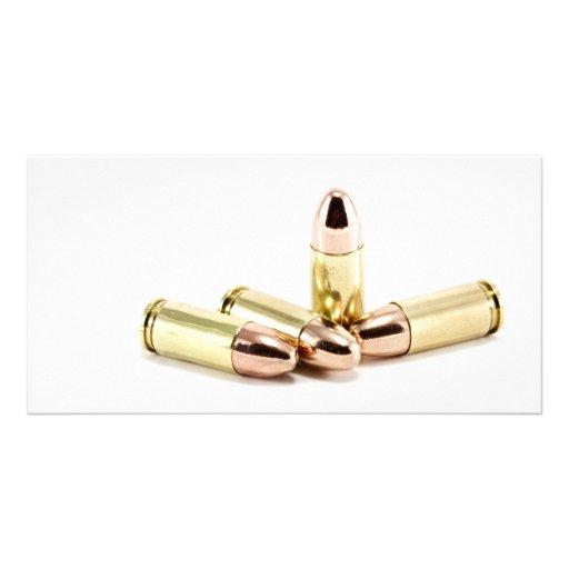 9mm Bullets Custom Photo Card