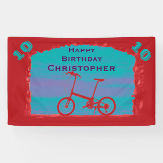 9th, 10th, 11th Birthday Party Bicycle Banner