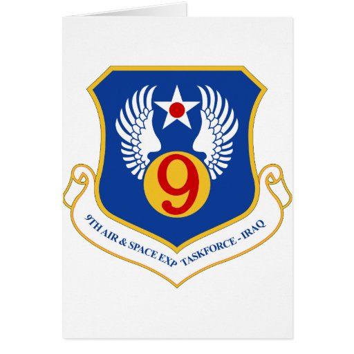 9th Air & Space Expeditionary Taskforce IRAQ Card