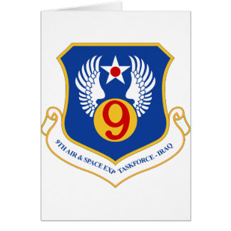 9th Air & Space Expeditionary Taskforce IRAQ Greeting Card