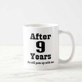 9th Anniversary (Funny) Basic White Mug