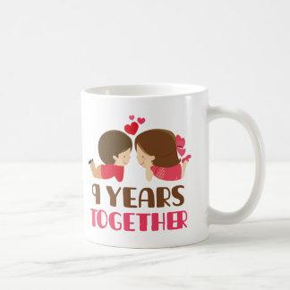 9th Anniversary Gift For Her Basic White Mug