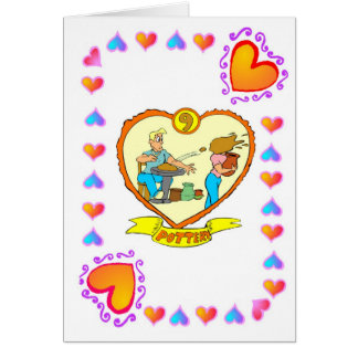 9th Anniversary - Pottery Greeting Card
