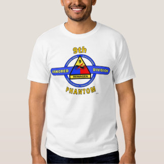 "9TH ARMORED DIVISION ""PHANTOM"" DIVISION T SHIRTS"