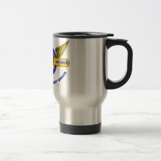 "9TH ARMY AIR FORCE ""ARMY AIR CORPS"" WW II STAINLESS STEEL TRAVEL MUG"