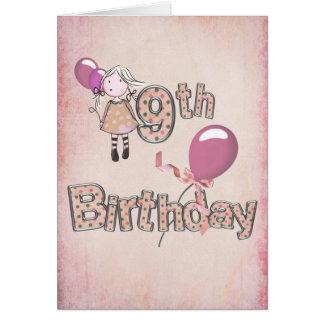 9th Birthday Greeting Card