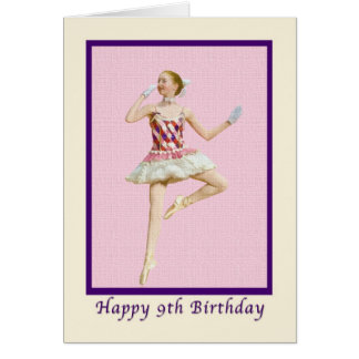 9th Birthday Card with Ballet Dancer