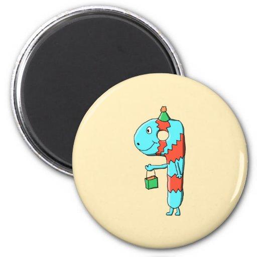 9th Birthday Cartoon. Magnets