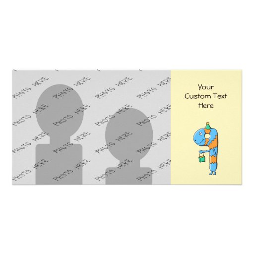 9th Birthday Cartoon Monster. Personalized Photo Card