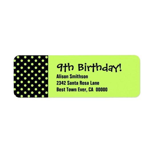9th Birthday Cute Polka Dot Pattern