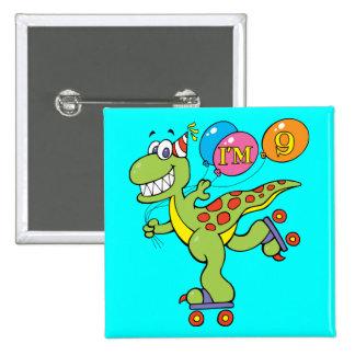 9th Birthday Dinosaur Pin