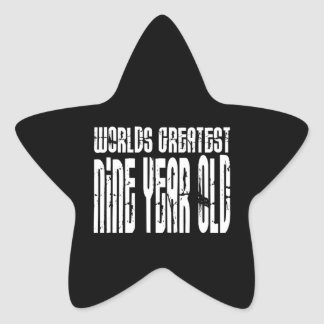 9th Birthday Parties Worlds Greatest Nine Year Old Stickers