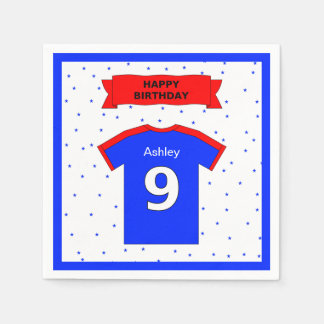 9th birthday party girls and boys add name disposable serviettes