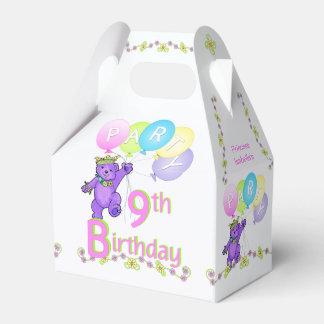 9th Birthday Princess Bear Custom Wedding Favor Boxes