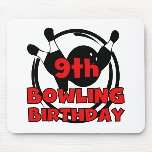 9th Bowling Birthday Mouse Pad
