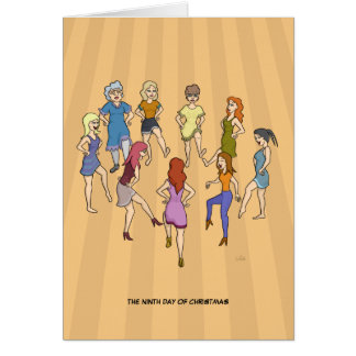 9th Day of Christmas (Nine Ladies Dancing) Card