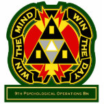 9th Psychological Operations Battalion DUI Photo Cutouts