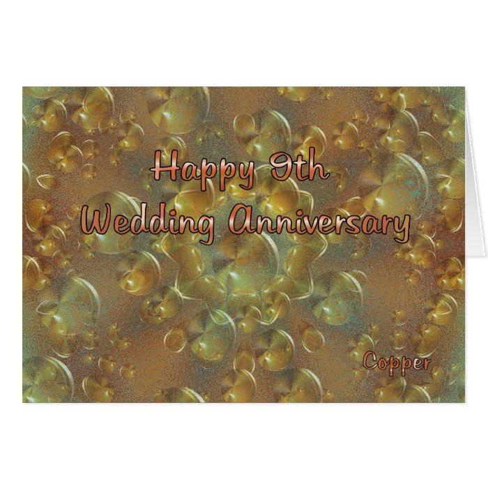 9th Wedding Anniversary Greeting Card