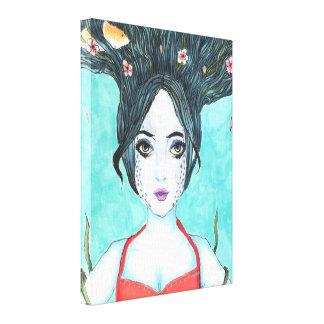 9x12 Koi Canvas Print