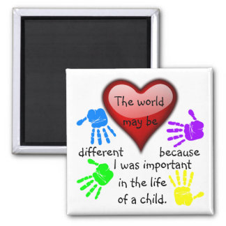 A0001.I Was Important in the Life.Magnet.2 Square Magnet